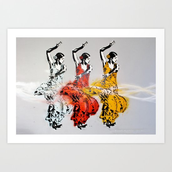 Las tres bailarinas Art Print