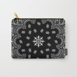 black and white bandana pattern Carry-All Pouch