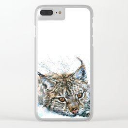 Lynx Wild and Free Clear iPhone Case