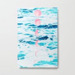 Beach Baby, Moon Baby Metal Print