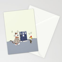 Playing Doctor and Daleks Stationery Cards