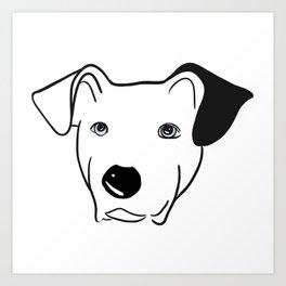 A dog named Beau Art Print