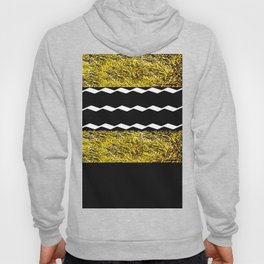 Black and Gold Glamour Pattern Hoody