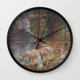 The voyage of the sisters Wall Clock