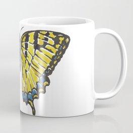 Yellow Swallowtail Butterfly Coffee Mug