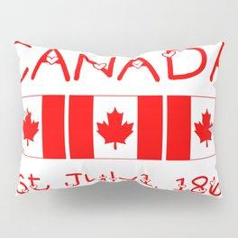 Canada Day Maple Leaf Pattern Canadian Flag Pillow Sham