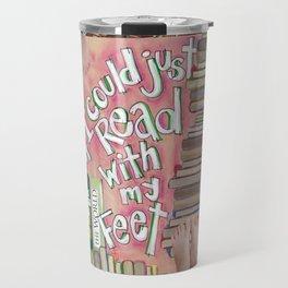 Feet Reading Travel Mug