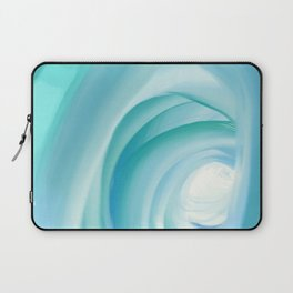 colorful cold blue shades abstract art Laptop Sleeve