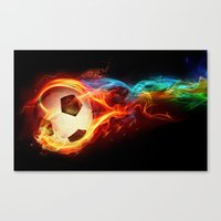 soccer Canvas Prints featuring Soccer  by Marvin Castro