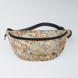 Close up view of an aged textured plastered stone wall Fanny Pack