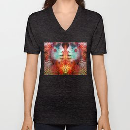 Gateway to the Ethereal Edifice Unisex V-Neck