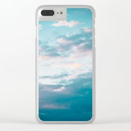 Blue sunset Clear iPhone Case