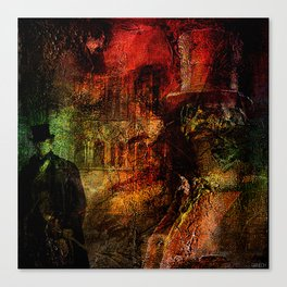 Whitechapel , first murder of Jack The Ripper Canvas Print