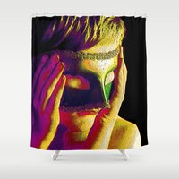anonymous Shower Curtains featuring Anonymous  by Dream Realm Photography and Art