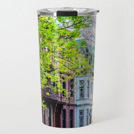 Brooklyn Rainbow Brownstones Travel Mug