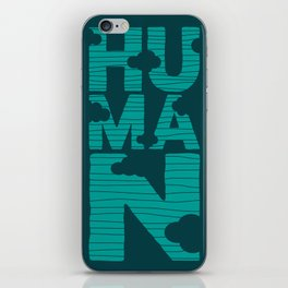 HUMAN (marrs green) iPhone Skin