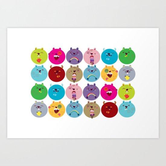 Cute bunnyballs Art Print