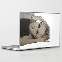 miley cyrus Laptop & iPad Skins featuring Miley Cyrus by Brittany Ketcham