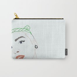 green haired babe Carry-All Pouch