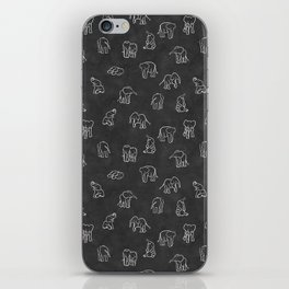 Indian Baby Elephants Blackout iPhone Skin