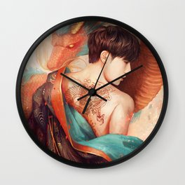 Gyu with the Dragon Tattoo Wall Clock