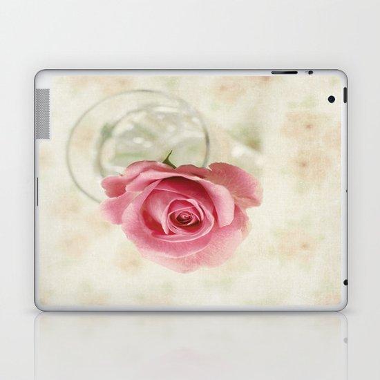 Vintage Textured Rose  Laptop & iPad Skin