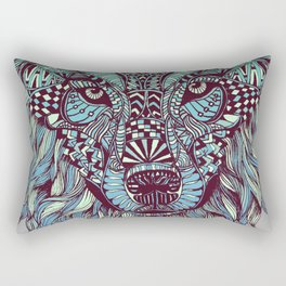 Wolf (Lone) Rectangular Pillow