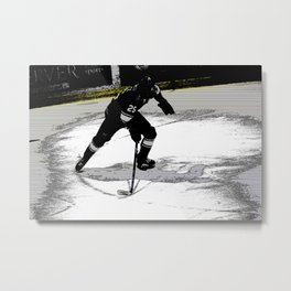On the Move - Hockey Player Metal Print
