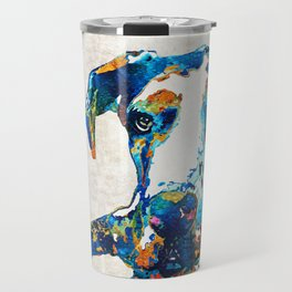 Great Dane Art - Stick With Me - By Sharon Cummings Travel Mug