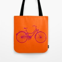 bicycle Tote Bags featuring Bicycle by Mr & Mrs Quirynen