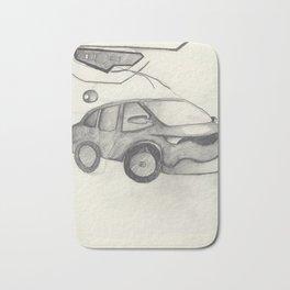 Car Sketch Bath Mat