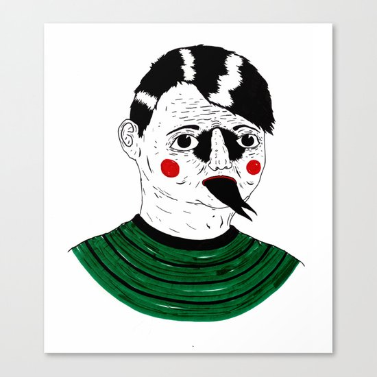 Snake Kid Canvas Print