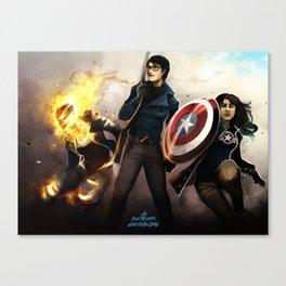 Blue Star Commando Canvas Print