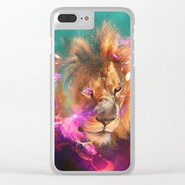 Lions Eating Galaxies Clear iPhone Case