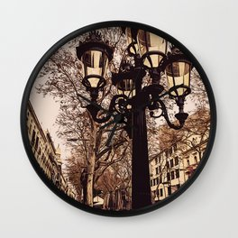 Barcelona, A walk down Las Ramblas Wall Clock