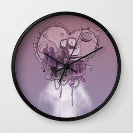 Valentines Junk Rocket Wall Clock