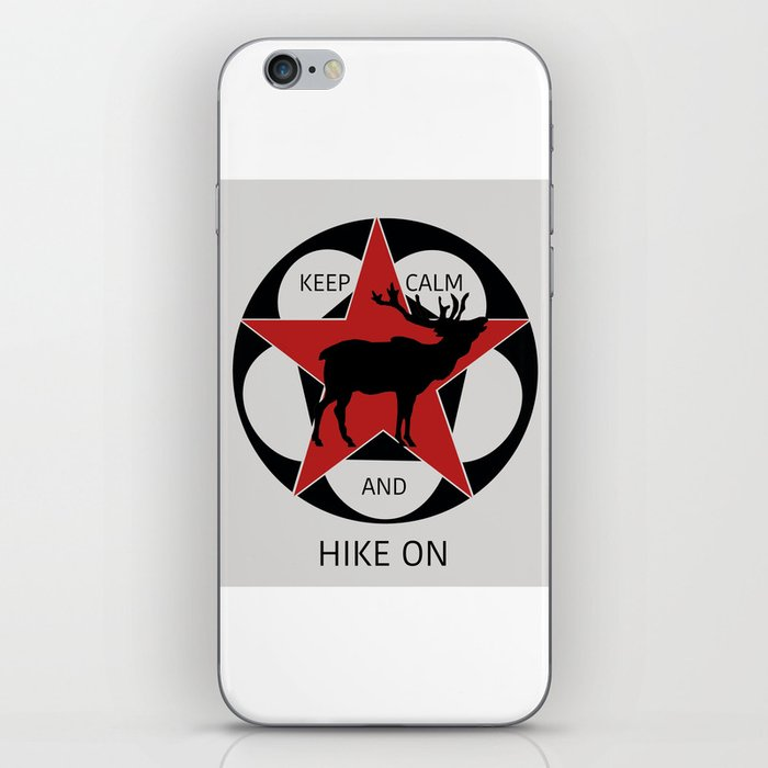 Keep Calm And Hike On Elk iPhone Skin