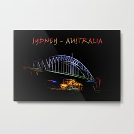 Electrified Sydney Metal Print