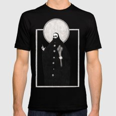 The Tarot of Death Black Mens Fitted Tee LARGE
