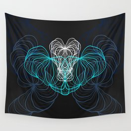 Gray, blue and white / digital drawing Wall Tapestry