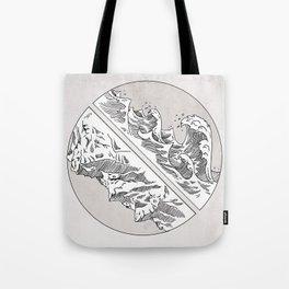 Mountains // Waves Tote Bag