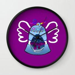 Bell on Purple Wall Clock