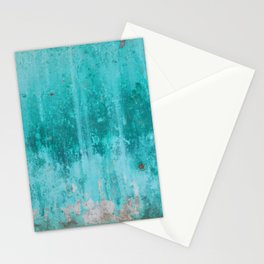 Weathered turquoise concrete wall texture Stationery Cards