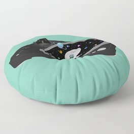 Space Record Player Floor Pillow