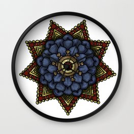 nautical mandala swirl Wall Clock