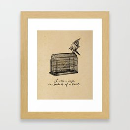 Franz Kafka - Cage in Search of a Bird Framed Art Print