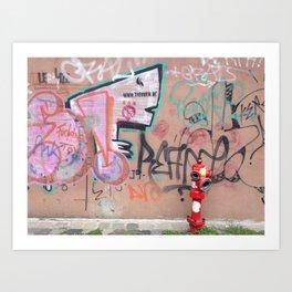 Cluj Graffiti Art Print