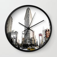Desaturated New York Wall Clock