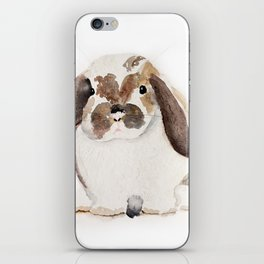 Bunny Watercolor (Flop Eared Bunny) iPhone Skin