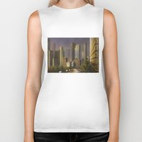 cityscape Biker Tanks featuring Cityscape by Viggart